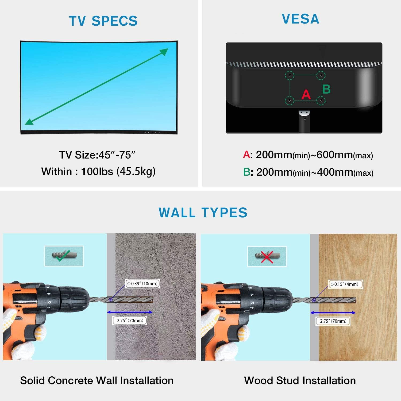 Soporte ecualizable para televisor North Bayou Model P7